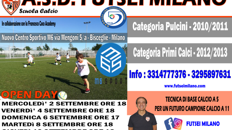 NUOVI OPEN DAY